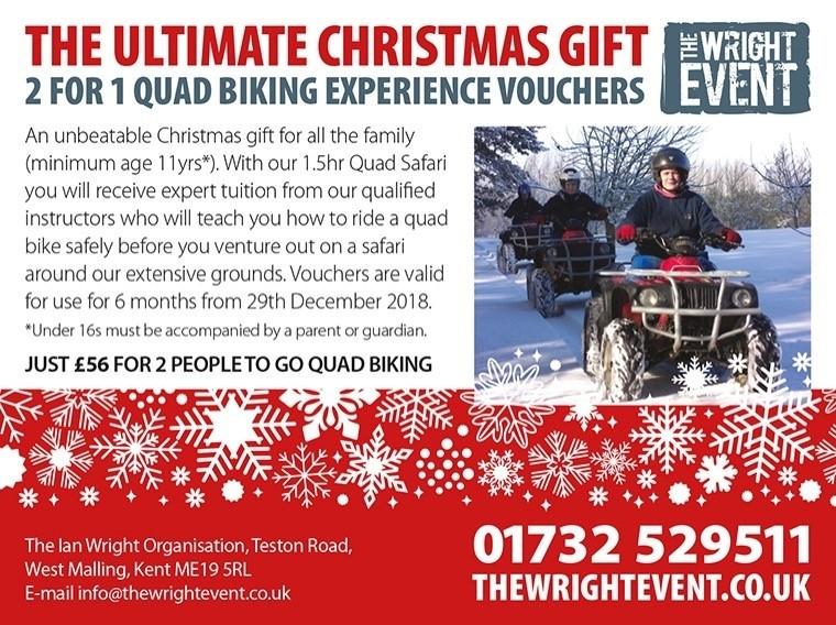 Christmas 2018 - Quad Biking - 2 for 1 Offer
