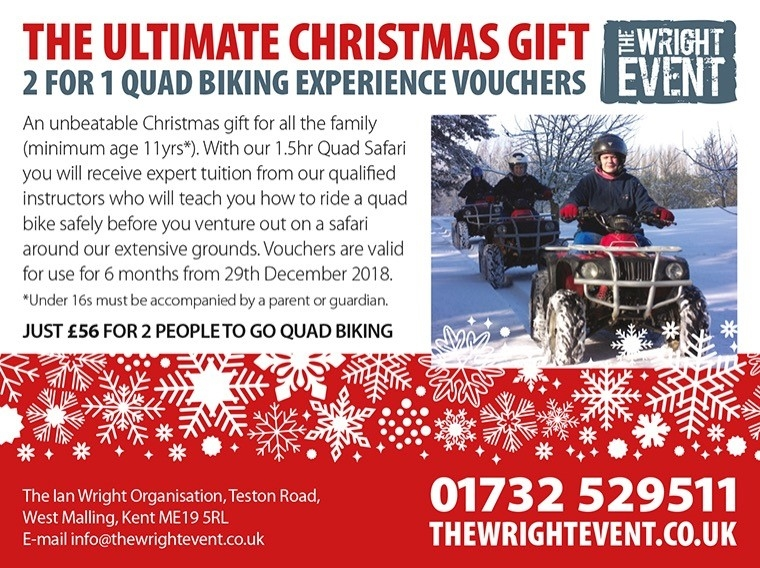 Quad biking 2 for 1 voucher christmas 2018