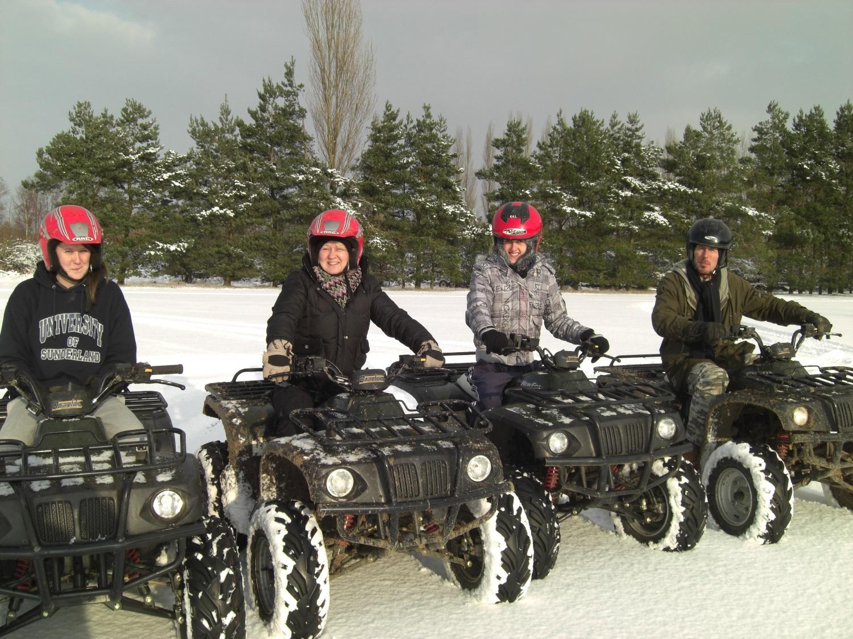 Quad Biking in the snow