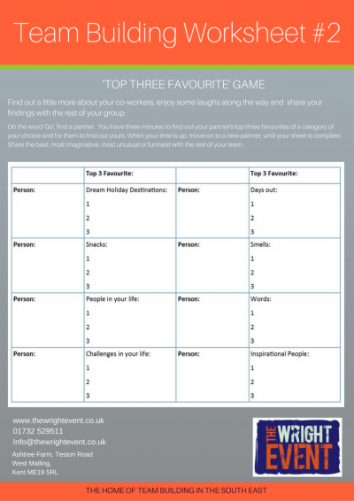 3 Team Building Worksheets to use in the office   The ...