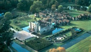 Hever Castle ariel view
