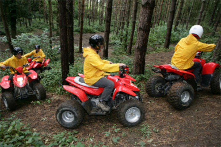 people quad biking